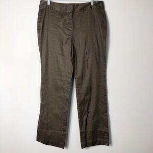 J. Jill NWT linen blend pants slacks in shale